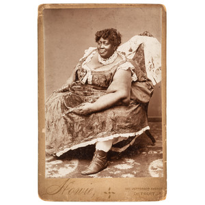 Cabinet Card of Large African American Woman, ca 1890