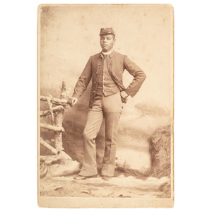 Buffalo Soldier James D. Cowan, 25th Infantry, Company D, Cabinet Card by O.S. Goff, ca 1888