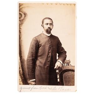 Cabinet Card of a Nebraska African American Preacher, ca 1885