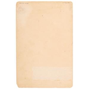 Justice Cabinet Card of Texas Criminals, 1896