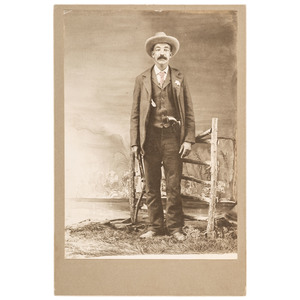 US Marshal Bass Reeves Cabinet Card, ca 1902