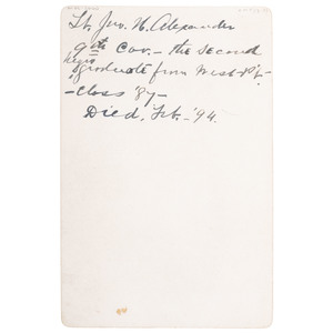 Lieut. John Alexander Cabinet Card