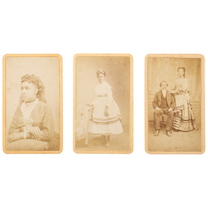 Trio of CDVs from Castroville, California of African Americans, ca 1875
