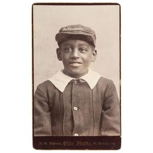 H.H. Blakesly Daily Examiner Newspaper Boy CDV, Napa Valley, California, ca 1890