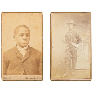Two Colorado CDVs of African Americans, ca 1880