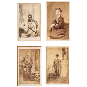 Four Kansas CDVs of African Americans, ca 1865-1880