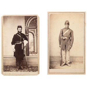 CDVs Pvt. Jake Standerford and 1st Lieut. George W. Ackles, 108th Regiment USCT