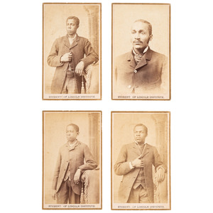 CDVs of African American Lincoln Institute Students, ca 1880