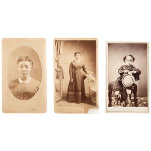 Rose Jackson and her Son, Trio of CDVs, Oregon, ca 1868