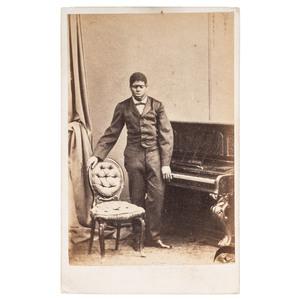 Blind Tom CDV in London on 1866 British Tour