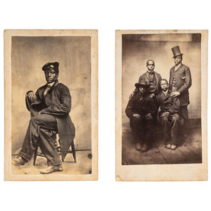 Two Exceptional CDVs of African Americans, ca 1865