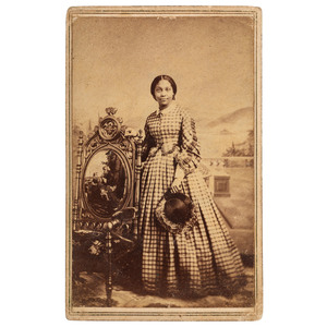 James P. Ball CDV of African American Woman, ca 1860