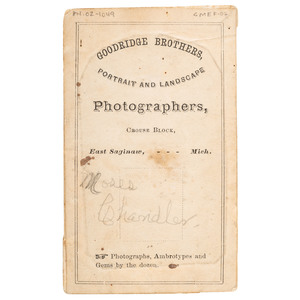 CDV Mounted Tintype Moses Chandler by Goodridge, ca 1870