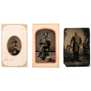 Tintypes of African American Musicians, ca 1865-1880