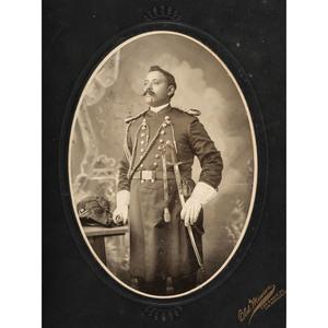 Los Angeles Garveyite in Uniform Oversize Albumen Photograph