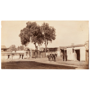 C.C. Pierce Old Quarter of Town, Los Angeles Unmounted Boudoir Card, ca 1888