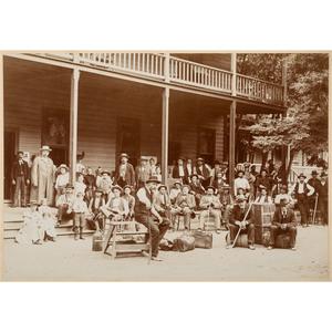 Adams Springs, California Oversize Photograph, ca 1895