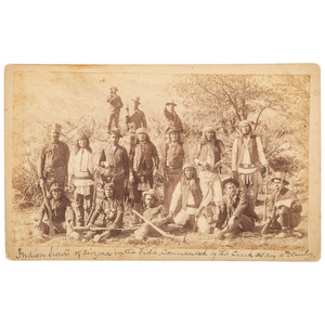 10th Cavalry Indian Scouts Boudoir Card, ca 1885