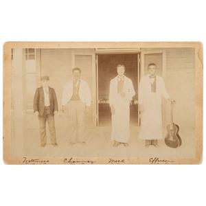 Railroad Eating House, Tucson, Arizona Boudoir Card, ca 1898