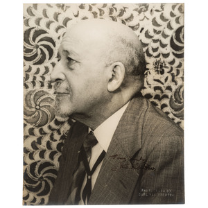 W. E. B. Du Bois Signed Photographic Portrait by Carl Van Vechten, 1946