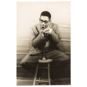 Carl Van Vechten Portrait of Dizzy Gillespie Leaning on His Horn, New York, 1955