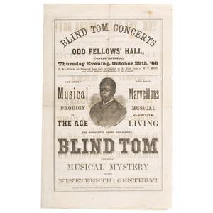 Blind Tom Concert Handbill, Philadelphia, 1868