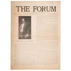 Two 1908 Issues of The Forum, San Jose African American Newspaper