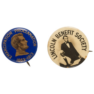 Lincoln and Sojourner Truth Related Pinbacks, ca 1910-1913