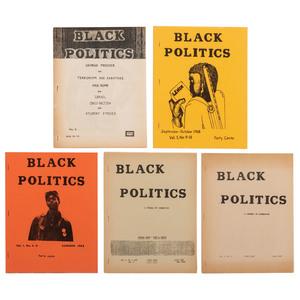 Black Politics: A Journal of Liberation Black Liberation Movement Magazine, Five Issues, 1968-ca 1969