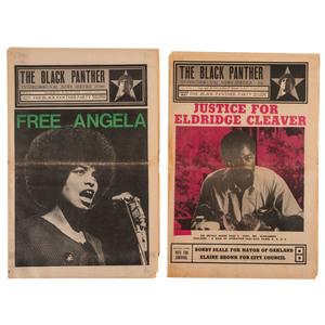 The Black Panther Newspaper Assorted Issues, 1969-1972, Anti-Vietnam, Angela Davis, Eldridge Cleaver Headlines