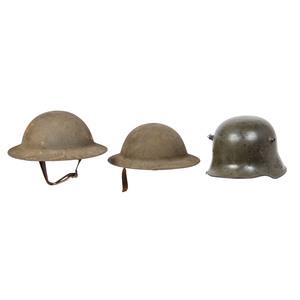 Lot of Three First World War Helmets