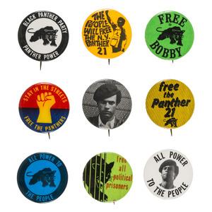 Black Panther Pinback Collection, ca 1969-1970