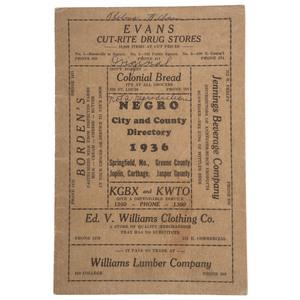 Jim Crow Era Missouri Negro City and County Directory