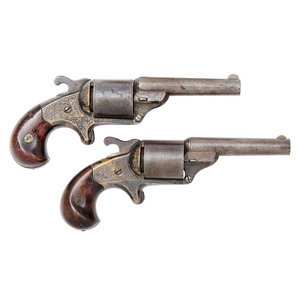 'Pair' of National Arms Co. Revolver and Moore's Patent Revolver