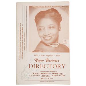 Los Angeles 1953-1954 Negro Business Directory with Pioneering Black Businesswoman Anita Bogan