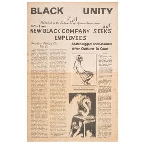 Black Unity Newspaper Vol. I, No. 1, 1969
