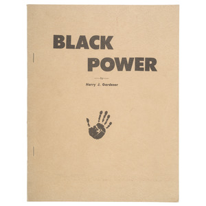 Black Power Monograph on Magic and Race by Harry J. Gardener, 1966