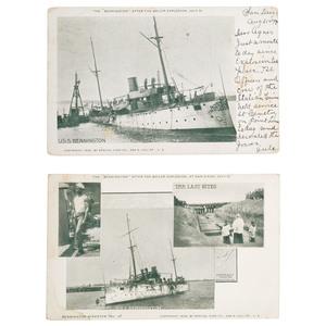 U.S.S. Bennington Explosion Printed Postcards, San Diego, California, 1905