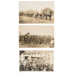 24th Infantry and 10th Cavalry During Mexican Border War Real Photo Postcards, ca 1910