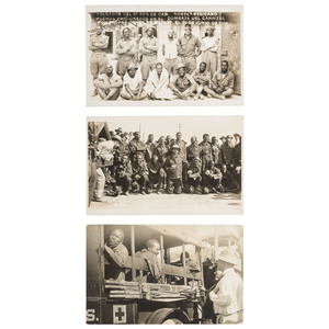 10th Cavalry POWs in Mexican Border War Real Photo Postcards, 1916