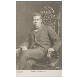 Booker T. Washington Printed Postcard, ca 1902