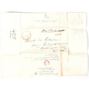 Fort Crawford, Wisconsin Territory, Letter to General Gibson Concerning Inspection of Stores, 1844, Plus