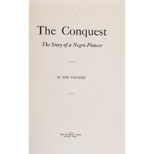 First Edition The Conquest, Oscar Micheaux Autobiography