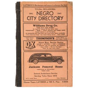 Negro City Directory, Tulsa, Oklahoma, 1941
