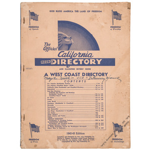 The Official California Negro Directory, 1942-43