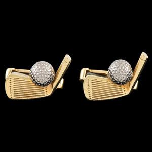 Deakin & Francis 18k Bicolor Gold Golf Cufflinks