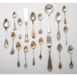 Souvenir Spoons and Other Silver Flatware