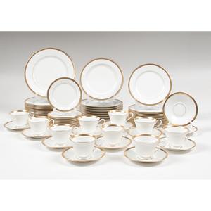 Gold-Rimmed Porcelain, Including Lenox and Haviland Limoges