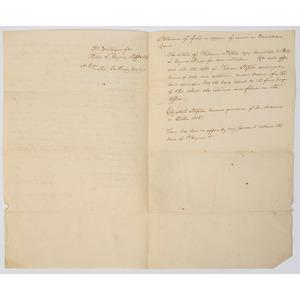 Revolutionary War Veteran Richard Varick, 1792 Tavern Permit Signed as Mayor of New York City, Plus