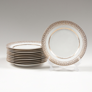 Continental Gilt Porcelain Plates